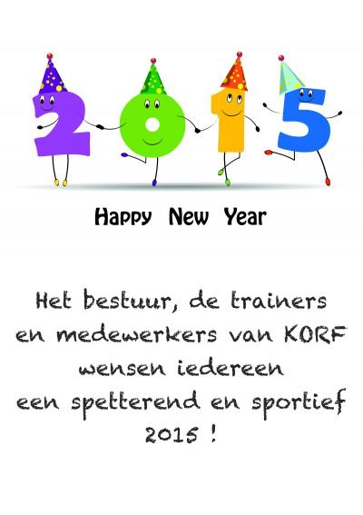 2015 Gelukkig Nieuwjaar!!