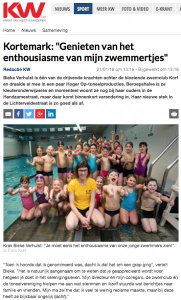 NEWS 160121 KW Bieke Krak van Kortemark